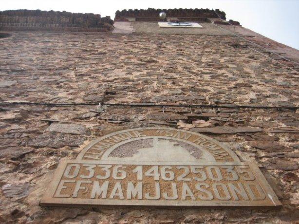 Calendario Perpetuo de San Román, en  Noguera de Albarracín, Teruel
