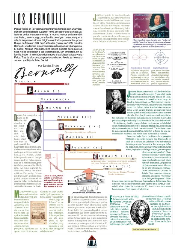 'Los Bernoulli' - Láminas del Mundo